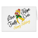 Childhood Cancer Love Hope Holidays Greeting Card