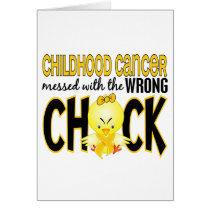 Childhood Cancer Messed With The Wrong Chick Card
