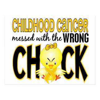 Childhood Cancer Messed With The Wrong Chick Postcard