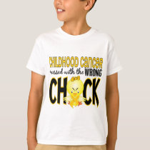 Childhood Cancer Messed With The Wrong Chick T-Shirt