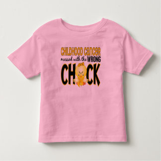 Childhood Cancer Messed With The Wrong Chick Toddler T-shirt