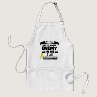 Childhood Cancer Met Its Worst Enemy in Me Adult Apron
