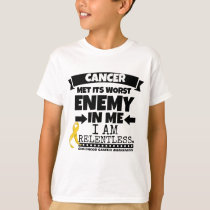 Childhood Cancer Met Its Worst Enemy in Me T-Shirt