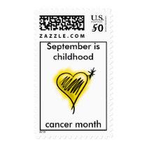 Childhood Cancer month stamp
