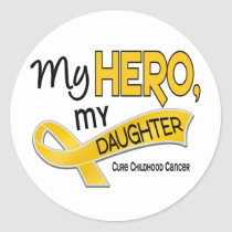 Childhood Cancer MY HERO MY DAUGHTER 42 Classic Round Sticker