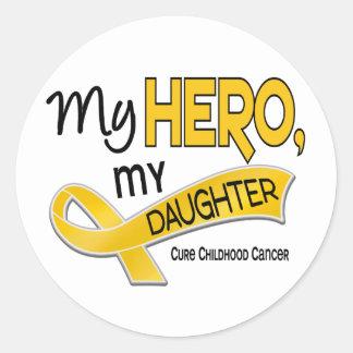 Childhood Cancer MY HERO MY DAUGHTER 42 Classic Round Sticker