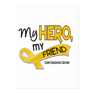 Childhood Cancer MY HERO MY FRIEND 42 Postcard