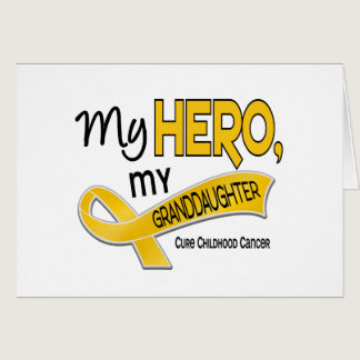 Childhood Cancer MY HERO MY GRANDDAUGHTER 42 Card