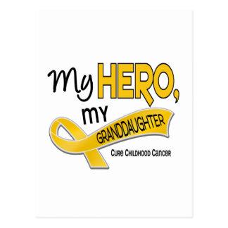 Childhood Cancer MY HERO MY GRANDDAUGHTER 42 Postcard