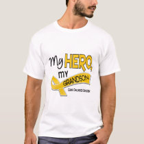 Childhood Cancer MY HERO MY GRANDSON 42 T-Shirt