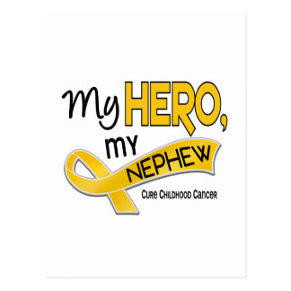 Childhood Cancer MY HERO MY NEPHEW 42 Postcard