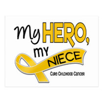 Childhood Cancer MY HERO MY NIECE 42 Postcard