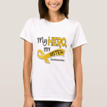 Childhood Cancer MY HERO MY SISTER 42 T-Shirt