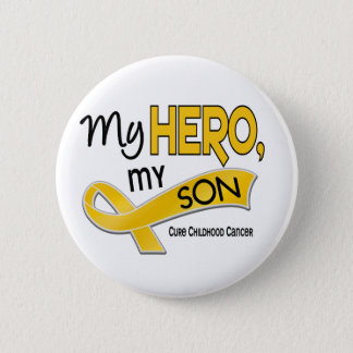 Childhood Cancer MY HERO MY SON 42 Button