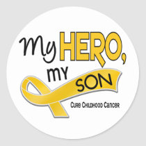 Childhood Cancer MY HERO MY SON 42 Classic Round Sticker