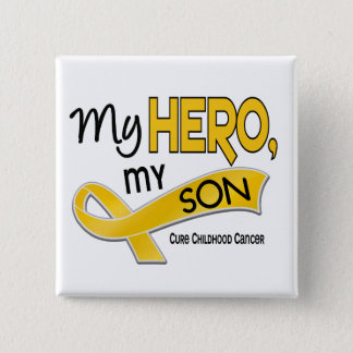 Childhood Cancer MY HERO MY SON 42 Pinback Button