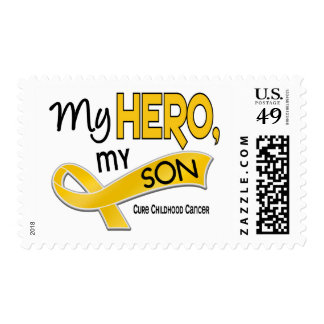 Childhood Cancer MY HERO MY SON 42 Postage Stamp