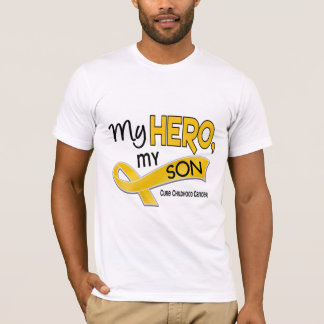 Childhood Cancer MY HERO MY SON 42 T-Shirt
