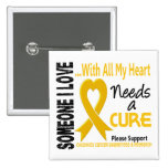 Childhood Cancer Needs A Cure 3 Pinback Buttons