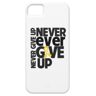Childhood Cancer Never Ever Give Up iPhone 5 Case