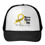 Childhood  Cancer Never Give Up Hats
