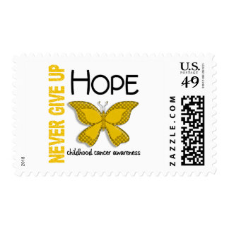 Childhood Cancer Never Give Up Hope Butterfly 4.1 Postage