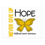 Childhood Cancer Never Give Up Hope Butterfly 4.1 Postcards