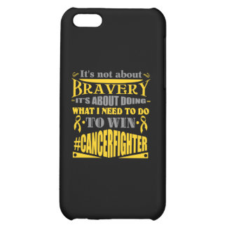 Childhood Cancer Not About Bravery iPhone 5C Cases