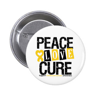 Childhood Cancer Peace Love Cure Pin