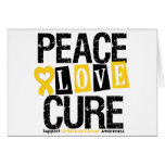 Childhood Cancer Peace Love Cure Cards