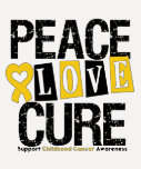Childhood Cancer Peace Love Cure Shirt