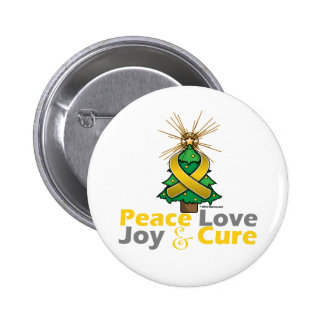 Childhood Cancer Peace Love Joy Cure Pin