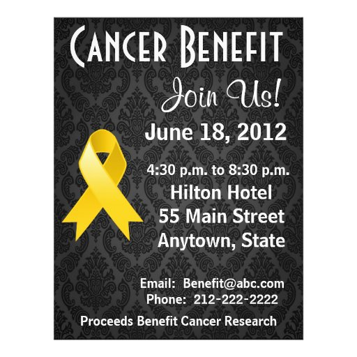 childhood cancer personalized benefit flyer