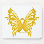 Childhood Cancer Ribbon Butterfly Mouse Pad