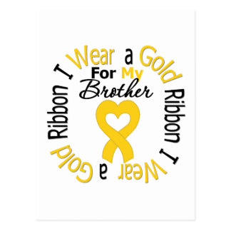 Childhood Cancer Ribbon For My Brother Postcard