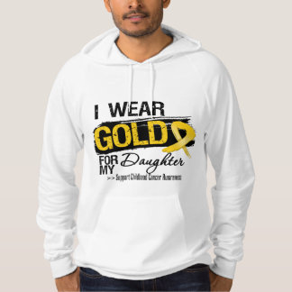 Childhood Cancer Ribbon For My Daughter Hoodies