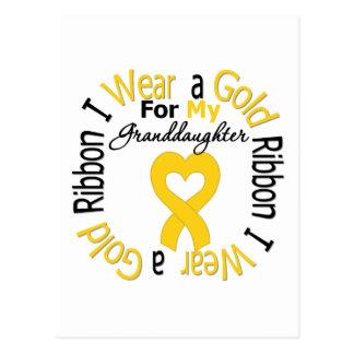 Childhood Cancer Ribbon For My Granddaughter Postcard