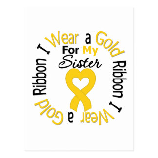 Childhood Cancer Ribbon For My Sister Postcard