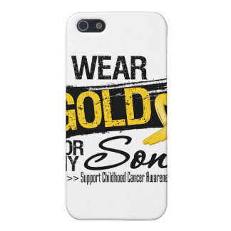 Childhood Cancer Ribbon For My Son iPhone 5 Cases