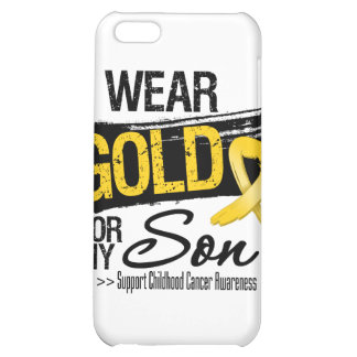 Childhood Cancer Ribbon For My Son iPhone 5C Covers