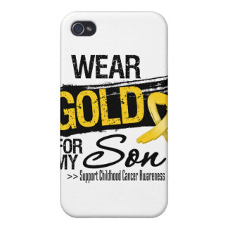Childhood Cancer Ribbon For My Son iPhone 4/4S Cases
