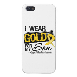 Childhood Cancer Ribbon For My Son iPhone 5/5S Cases