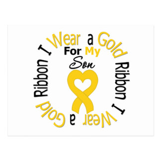 Childhood Cancer Ribbon For My Son Postcard