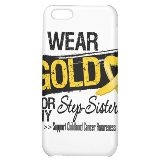 Childhood Cancer Ribbon For My Step-Sister Case For iPhone 5C