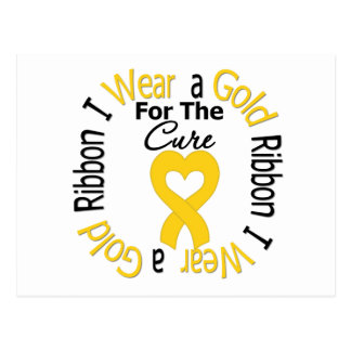 Childhood Cancer Ribbon For The Cure Postcard