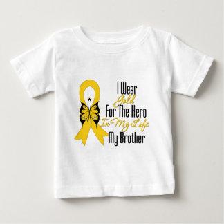 Childhood Cancer Ribbon My Hero My Brother Tee Shirt
