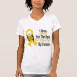 Childhood Cancer Ribbon My Hero My Grandson T-shirts