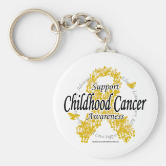 Childhood Cancer Ribbon of Butterflies Keychain