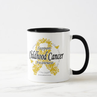 Childhood Cancer Ribbon of Butterflies Mug