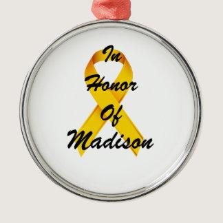 Childhood Cancer Ribbon Ornament
